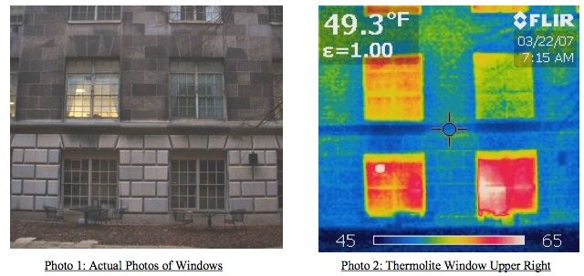 Thermolite windows thermal imaging study