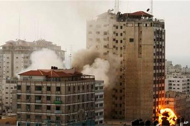 Israel Gaza strip bomb blast bomb windows